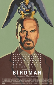 Michael Keaton always knows how to choose the perfect role in his career at the perfect moment. Birdman is no exception, ensemble with an amazing cast Edward Norton, Emma Stone, and Zach Gakaniskinis.   Great Film.